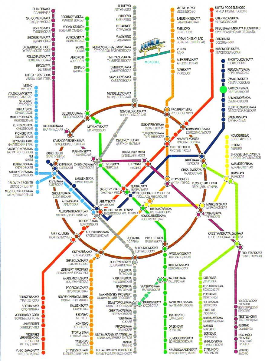 Схема метро от казанского вокзала до киевского вокзала